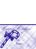 Happy Holidays Candy Cane Card