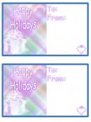Purple Happy Holidays