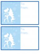 Snowman Snowflakes Card