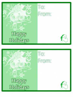 photo relating to Happy Holidays Printable Card called Eco-friendly Joyful Holiday seasons Card
