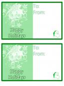 Green Happy Holidays Card