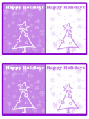 Purple and White Tree Card