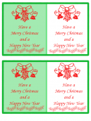 Green and White Holiday Greeting Card