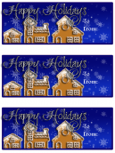 Snow Village Holiday Card