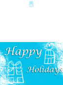 Blue Gift Holiday Card