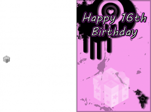 Sweet 16 Pink Birthday Cards