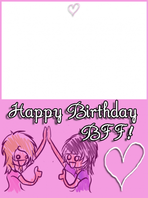 Pink BFF Birthday Cards