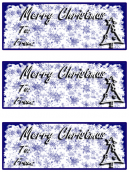 Blue Ice Christmas Card