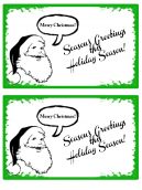 Green and Santa Christmas Card