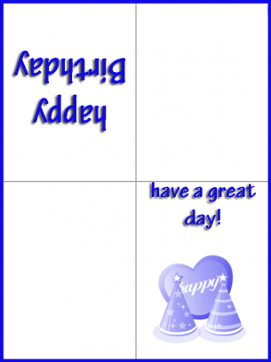 Happy blue birthday cards bookmarktalkfo Gallery
