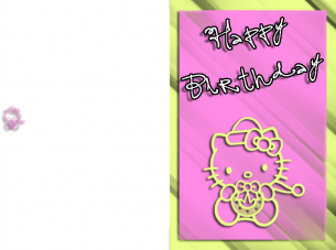 pink hello kitty cards