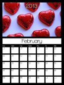 February 2013 Monthly Calendars