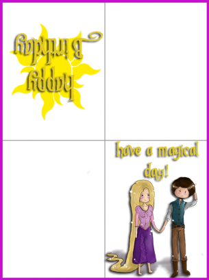 Printable birthday cards foldable for girls pasoevolist rapunzel birthday cards bookmarktalkfo Gallery