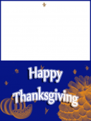 Blue and Orange Thanksgiving Card