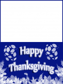 Blue and White Leaf Card