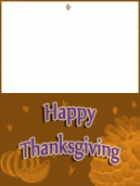 Brown Melon Thanksgiving Card