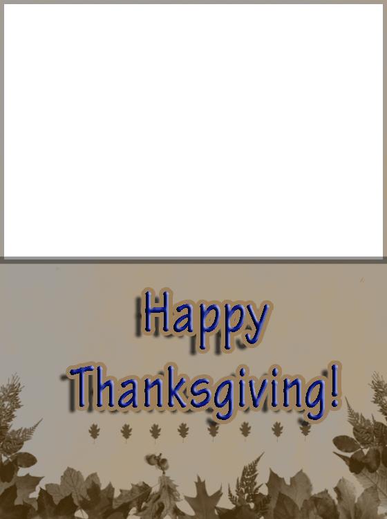 Leaf Border Thanksgiving Card