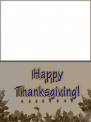 Leaf Border Thanksgiving Card