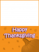 Orange Pumpkin Thanksgiving Card
