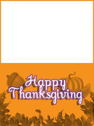 orange thanksgiving card