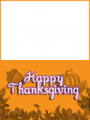 Orange Thanksgiving Card