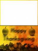 Thanksgiving Blurred Card
