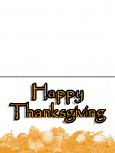 White and Orange Thanksgiving Feast Card