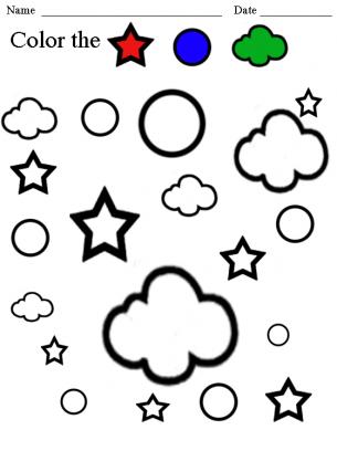 color the shapes worksheet