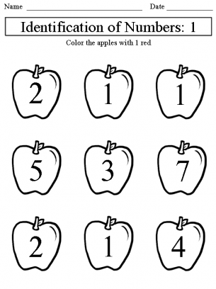 math worksheet : identification of numbers 1 worksheet : Identifying Numbers Worksheets Kindergarten