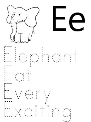 medium - E Words For Kindergarten