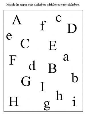 Kindergarten Worksheets: Match upper case and lower case letters 1