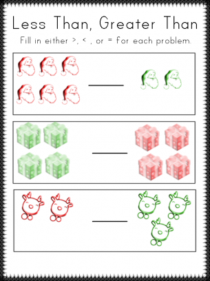 Number Names Worksheets : less than and more than worksheets Less ...