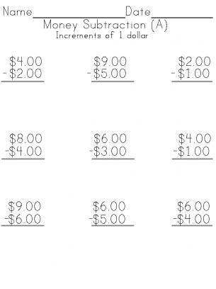 Money Subtraction