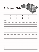 Trace the Letter F Worksheet