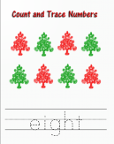 Count and Trace Numbers 8 Worksheet