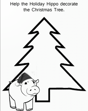 Decorate Christmas Tree Worksheet