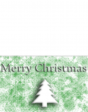 Green and White Christmas Card