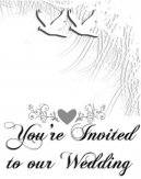 White Scale Wedding Invitation