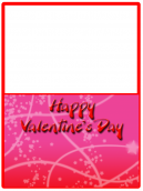 Pink and Red Valentines Card