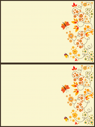 picture relating to Printable Blank Cards referred to as Blank Butterfly Card