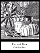 Harvest Time Coloring Sheet