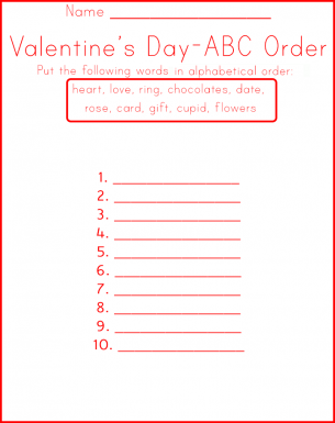New Year's ABC Order - FREEBIE - Print and Go by Extraordinary ...