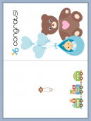 Bear and Baby Congrats Card
