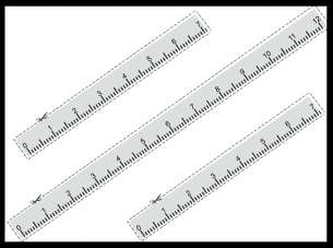picture about Printable Rulers identify Ruler Stencil