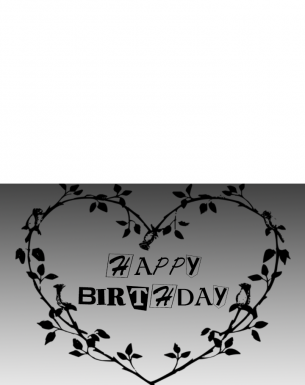 Black White Birthday Cards
