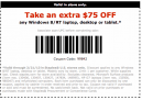 Staples 75 Dollars off Laptop Coupons