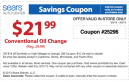 Sears Oil Change Coupons