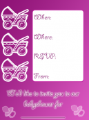 Pretty Pink Baby Shower Invitations