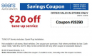Sears Coupons 20 Off