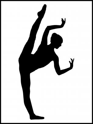 image relating to Printable Ballerina Silhouette named Ballerina Stencils